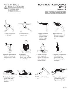Iyengar Yoga Institute of New York, Home Practice Sequence Level 1, Sequence 2