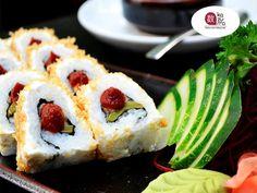 EL MEJOR RESTAURANTE JAPONÉS EN MÉXICO En Restaurante Kazuma le invitamos a disfrutar de nuestro delicioso ROLLO AZTECA. Un sushi que va relleno con nopal y cebolla de cambray, cubierto con queso, chicharrón y un toque de salsa chipotle. La mejor opción en comida japonesa la encuentra en Kazuma.   #lamejorcomidajaponesa