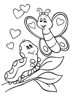 Monkey Coloring Pages | Free Printable Valentines Coloring Pages Butterflies