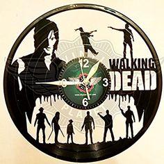 VINYL WALL CLOCK WALKING DEAD 2