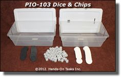 I have colored chips and dice - easy to make