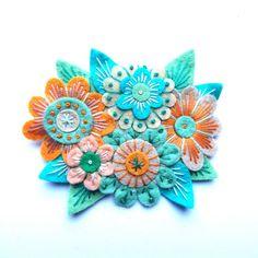 VINTAGE Bouquet Filz Brosche Pin mit von designedbyjane auf Etsy