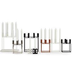 Kubus 4 Candleholder, Black