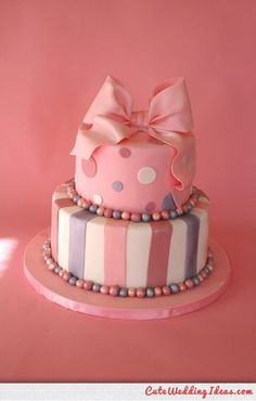 CUTE PINK Wedding Cake…