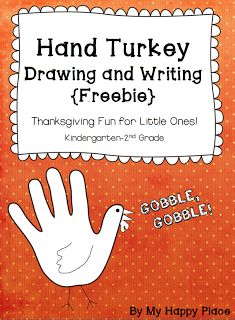 "FREE LANGUAGE ARTS LESSON - ""{Freebie!} Hand Turkey Drawing and Writing Printables for K, 1st, & 2nd"" - Go to The Best of Teacher Entrepreneurs for this and hundreds of free lessons.   #FreeLesson   #TeachersPayTeachers   #TPT   #LanguageArts   #Thanksgiving   http://www.thebestofteacherentrepreneurs.net/2013/11/free-language-arts-lesson-freebie-hand.html"