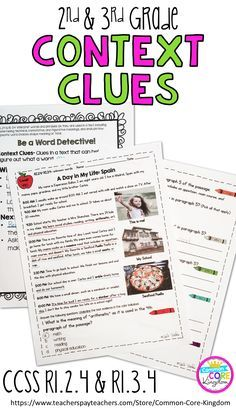 Are you looking for a way to teach your second and third graders about context clues and words and phrases? This packet of reading comprehension passages with imbeded vocabulary will help your and graders master Common Core Standard and RL. Reading Comprehension Passages, Comprehension Strategies, Reading Strategies, Reading Activities, Teaching Reading, Reading Fluency, Reading Lessons, Reading Skills, Reading Art