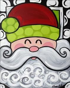 Check out Painting with a Twist's events in Hattiesburg, MS to uncover your next painting party! Read more to find out about upcoming painting events. Christmas Canvas, Christmas Art, Christmas Projects, Holiday Crafts, Xmas, Santa Paintings, Christmas Paintings, Paint And Sip, Winter Art