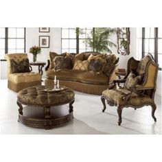 Campania - Traditional Wood Trim Fabric Sofa Couch & Chair Living Room Set New - IFD Furnishings Living Room Sets, Living Room Chairs, Living Room Furniture, Couch And Loveseat Set, Traditional Sofa, Traditional Furniture, Deck Furniture, Metal Furniture, Furniture Stores