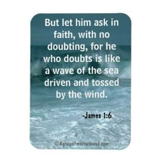 Ask in faith Religious Quotes Magnet #Agrainofmustardseed