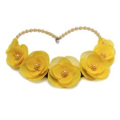 SUNSHINE | Colier statement elegant Floral Necklace, Sunshine, Handmade Jewelry, Ribbon, Necklaces, Elegant, Flowers, Tape, Classy