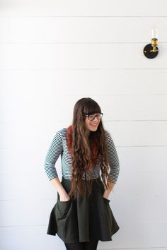 winter capsule | favorites // striped tee + green skirt » Sweater & a Pen