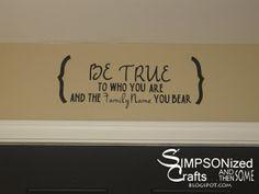 SIMPSONIZED CRAFTS: Wall Vinyl Ideas