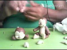 3°Aula Safari - Macaquinhos - Biscuit/ Porcelana Fria