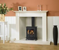 3 5KW Yeoman Exmoor Natural Gas Balanced Flue Log Effect Stove - Yeoman Gas Stoves - by Yeoman - This