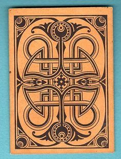 1 Single Swap Playing Card Antique Square Cornered Design Wide OLD Vintage Rare | eBay