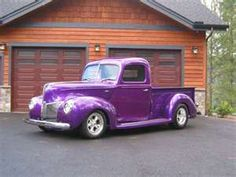 Purple 1940 Ford Truck, I want this so bad!
