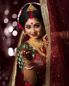 Royal Indian Wedding, South Indian Bride, Indian Bridal, Indian Wedding Photography, Wedding Photography Poses, Wedding Poses, Bengali Bride, Bengali Wedding, Marriage Poses