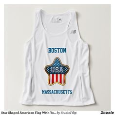 Star Shaped American Flag With Your City And State Tank Top