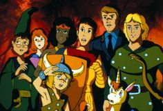 cartoons saturday morning The gang from the Dungeons and Dragons cartoon. I wanted one of those magic bows so bad! Lucky Luke, 90s Childhood, Childhood Memories, Gi Joe, Dungeons And Dragons Cartoon, School Cartoon, Happy Cartoon, 80 Cartoons, Saturday Morning Cartoons