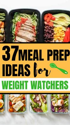 37 Meal Prep Ideas For Weight Watchers - Meal prep ideas and recipes that will work for your weight watching. These breakfast, lunch and dinner meal prep ideas are perfect for weight watchers. Easy Healthy Meal Prep, Easy Healthy Recipes, Lunch Recipes, Healthy Eating, Dinner Recipes, Healthy Meals, Ww Recipes, Healthy Food, Clean Eating