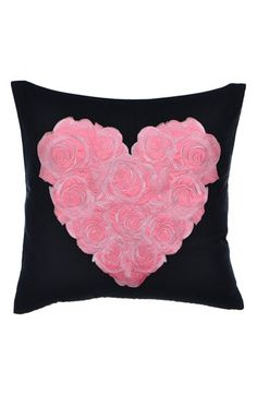 Betsey Johnson Bedding 'Punk Princess' Embroidered Heart Pillow available at #Nordstrom