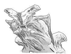 Pacific Rim Kaiju concept art: Slattern by Guy Davis