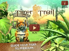 San Diego Zoo's super addictive (educational) Tiger Trail game #kids #tech #education #edutainment #apps #games