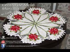 Centro de Mesa Toalha de Crochê Redonda Marcilia - Professora Simone - YouTube