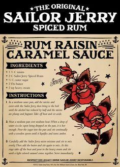 Rum Raisin Caramel Sauce