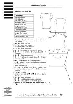 3apostila3 de modelagem blusa Pattern Making Books, Pattern Books, Dress Sewing Patterns, Clothing Patterns, Pattern Drafting Tutorials, Pants Pattern, Fashion Sewing, Sewing Techniques, Textbook