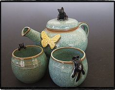 Cat Teapot Set - CUTE!