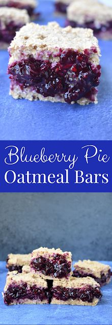 Blueberry Pie Oatmeal Bars are loaded with homemade blueberry pie filling nestled between two chewy oat layers. They are nutritious, gluten-free and vegan and make the perfect breakfast or snack! #blueberry #blueberries #oatmeal #oats #breakfast #bars #healthy #vegan #oatmilk #glutenfree Blueberry Pie Bars, Homemade Blueberry Pie, Blueberry Crumble, Blueberry Recipes, Blueberry Breakfast, Perfect Breakfast, Breakfast Bars, Breakfast Ideas, Breakfast Recipes