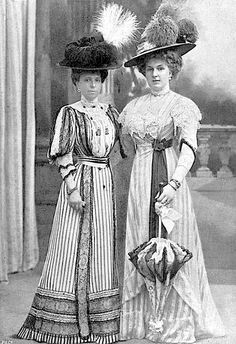 Queen Ena of Spain with her mother-in-law.