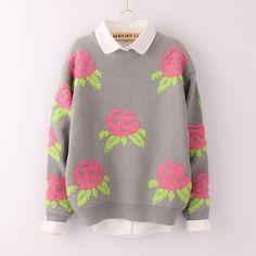 Japanese sweet flowers sweater