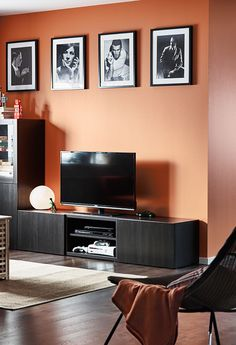 Organize the area around your TV, so you can truly relax while you're watching a show!
