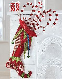 Decorate your mantel in style with unique Christmas stockings and decorative stocking holders. Discover beautiful, functional designs at Grandin Road. Christmas Stocking Decorations, Unique Christmas Stockings, Christmas Stocking Pattern, Xmas Stockings, Whimsical Christmas, Christmas Sewing, Christmas Projects, Holiday Crafts, Christmas Stocking Images