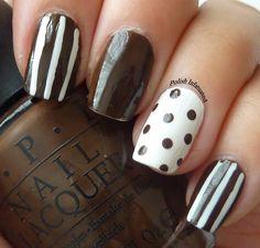 chocolate themed nail art
