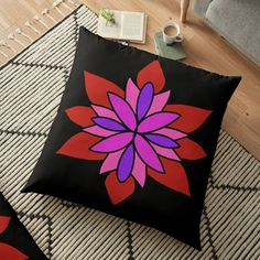 """Lotus Star Design"" Floor Pillow by Pultzar 
