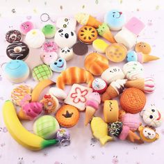 Random Kawaii Mini Soft Squishy Foods Panda Bread Bun Toasts Multi Donuts Phone Straps Charm Kids Toy Gift ** Continue to the product at the image link. Squishy Food, Cake Squishy, Squishy Kawaii, Jumbo Squishies, Cute Squishies, Homemade Squishies, Donuts, Strawberry Bread, Bread Bun