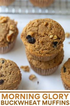 These healthy and wholesome buckwheat muffins make a delicious start to your morning! Full of apple, carrot, walnuts and raisins, they are full of goodness.