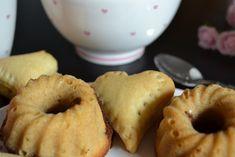 Nutella Herzerl und Erdnussbutter-Brownie-Guglhupf zum Valentinstag Doughnut, Nutella, Muffin, Breakfast, Desserts, Food, Peanut Butter, Valantine Day, Biscuits