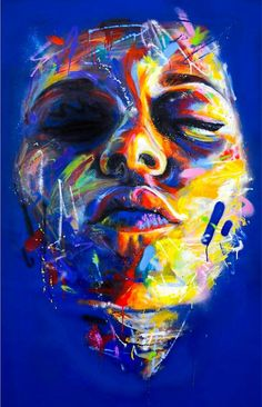 David Walker is a good example of style repetition. He has a unique style that can be identified throughout his works. The repetition is in his colour theme and applications of colours used to structure his art. The colours are well defined and strongly s