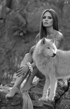 Beautiful Wolves, Beautiful Girl Image, Beautiful Dogs, Wolf Spirit, My Spirit Animal, Wolf Goddess, Wolves And Women, Wolf Love, Wolf Pictures