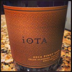 Nittany Epicurean: 2012 iOTA Pelos Sandberg Vineyard Pinot Noir