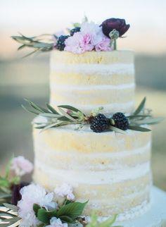 Naked cake for Arizona ranch wedding