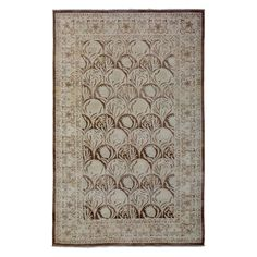 """Oushak Collection Oriental Rug, 5' x 7'10"""""""