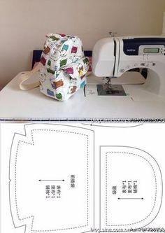 Sew the bag-backpack.How to make school bag Backpack Tutorial, Diy Backpack, Backpack Pattern, Handbag Tutorial, Pouch Tutorial, Purse Patterns, Sewing Patterns, Mochila Tutorial, Sewing Crafts