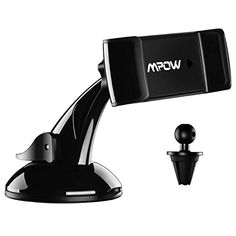 From 8.69 Car Phone Mount Mpow 2-in-1 Phone Holder For Car Windcreen / Dashboard / Air Vent Car Mount And 360 Degrees Rotation Car Cradle For Iphone 7 7 Plus 6 6s Plus 5s Lg Sony Htc Samsung S8 S7 And Other Mobile Phone
