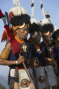 Yimchungru Tribal Dancers, Hornbill Festival ~ Kohima, Nagaland, India (Photo by Jim Zuckerman) #monogramsvacation