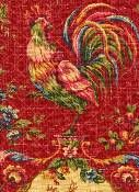 French Country Fabric - Saison De Printemp Bordeaux